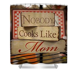 Nobody Cooks Like Mom - Square Shower Curtain