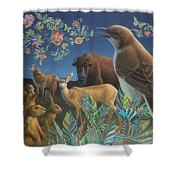 Nocturnal Cantata Shower Curtain