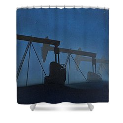 Nocturnal Donkeys Shower Curtain