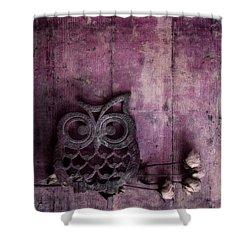 Nocturnal In Pink Shower Curtain by Priska Wettstein