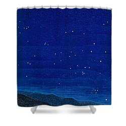 Nocturnal Landscape Shower Curtain by Francois-Louis Schmied