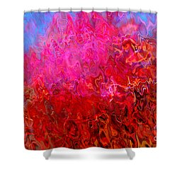 Inferno Shower Curtain by Susan Schroeder