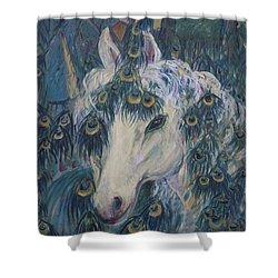 Nola's Unicorn Shower Curtain
