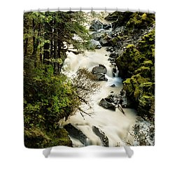 Nooksack River And Waterfalls  Shower Curtain