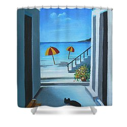 Noon At The Beach Shower Curtain