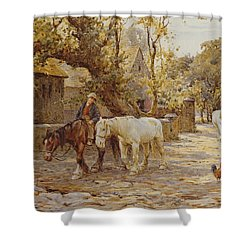 Noon Day  Shower Curtain by Joseph Harold Swanwick