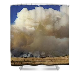 Norbeck Prescribed Fire Smoke Column Shower Curtain