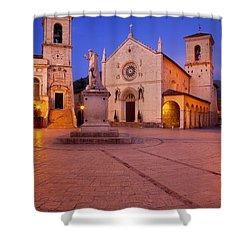 Norcia Umbria Shower Curtain by Brian Jannsen