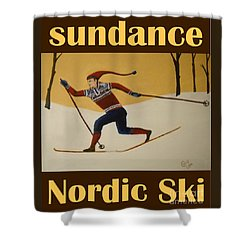 Nord Ski Poster Shower Curtain