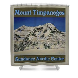 Nordic Timpanogos Poster Shower Curtain