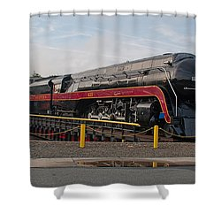 Norfolk And Western Class-j 611 Shower Curtain by John Black