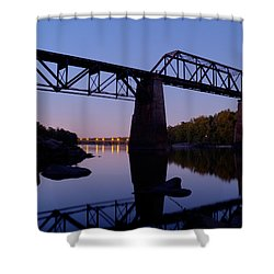 Norfolk-southern Crossing-1 Shower Curtain