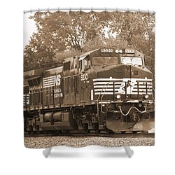 Norfolk Southern Freight Train Shower Curtain