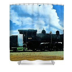 Norfolk Western Steam Locomotive 917 Shower Curtain