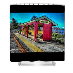 Shower Curtain featuring the photograph Norm Laknes Train Station by Thom Zehrfeld