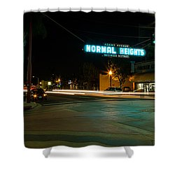 Normal Heights Neon Shower Curtain