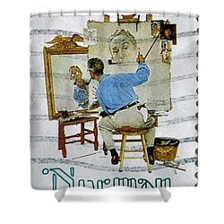 Norman Rockwell Shower Curtain