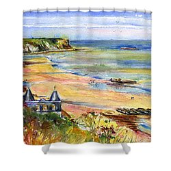Normandy Beach Shower Curtain