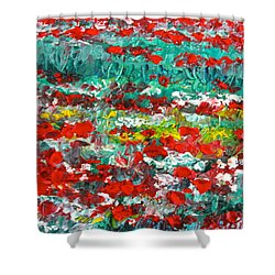 Normandy Poppy Field Dreams I Shower Curtain