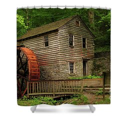 Rice Grist Mill Shower Curtain