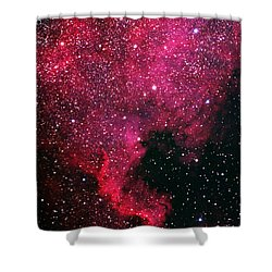 North American Nebula Shower Curtain