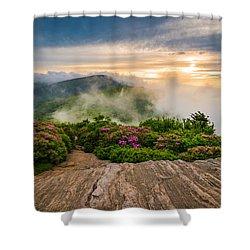 North Carolina Appalachian Trail Spring Blue Ridge Mountains Shower Curtain