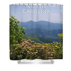 North Carolina Mountains Shower Curtain