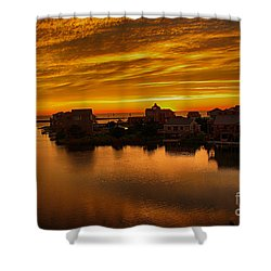 North Carolina Sunset Shower Curtain