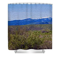 North Cascades Game Range Panorama Shower Curtain by Omaste Witkowski