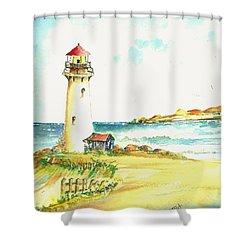 North Coast Light House Shower Curtain by David Patrick