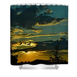 North Dakota Sunset Shower Curtain