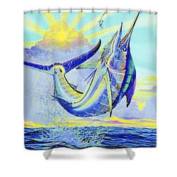 North Drop Off00132 Shower Curtain by Carey Chen