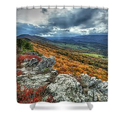 North Fork Mountain Overlook Shower Curtain