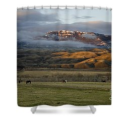 North Fork Pasture-signed Shower Curtain
