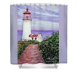 North Head Light House On The Washington Coast Shower Curtain