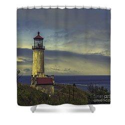 North Head Lighthouse Shower Curtain by Jean OKeeffe Macro Abundance Art