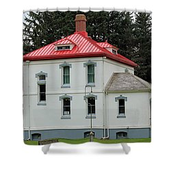 North Head Lighthouse Keepers Quarters Shower Curtain by E Faithe Lester