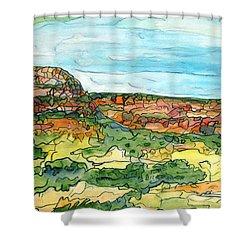 North Mesa Shower Curtain