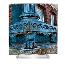 North Platte Post Office Lamp Post Shower Curtain