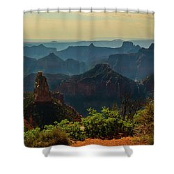 Shower Curtain featuring the photograph North Rim Grand Canyon Imperial Point by Bob and Nadine Johnston