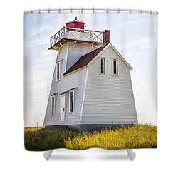 North Rustico Lighthouse Shower Curtain