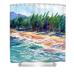 North Shore Beach 2 Shower Curtain by Marionette Taboniar