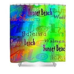 North Shore Beaches Shower Curtain