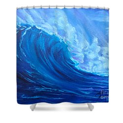 Shower Curtain featuring the painting Wave V1 by Jenny Lee