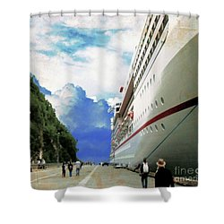 North To Alaska Shower Curtain