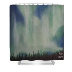 Shower Curtain featuring the painting Northern Angel Bird by Stanza Widen