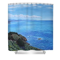 Northern California Coastline Shower Curtain
