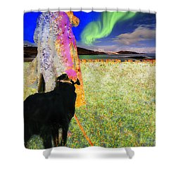 Northern Lights Shower Curtain by Chuck Staley