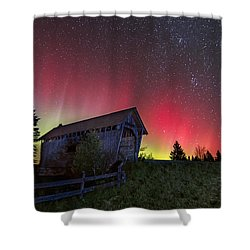 Northern Lights - Painted Sky Shower Curtain by John Vose