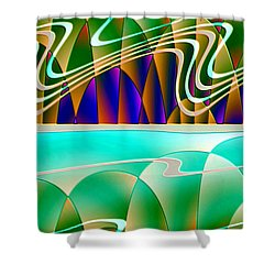 Northern Lights Shower Curtain by Raul Ugarte
